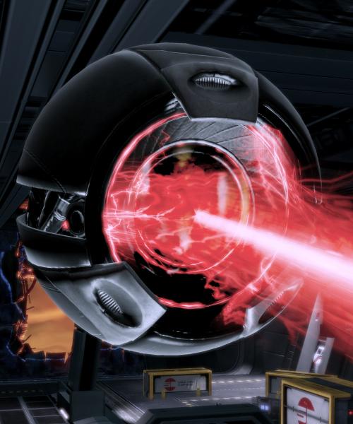 a Mass Effect combat drone